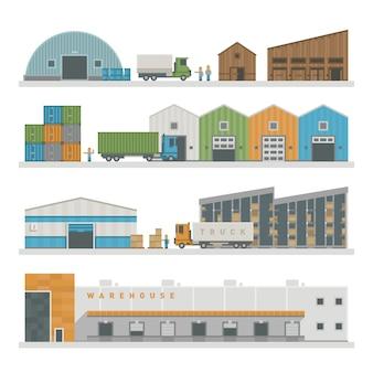 Bâtiments logistiques d'entrepôt