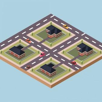 Bâtiments de résidence dans une ville