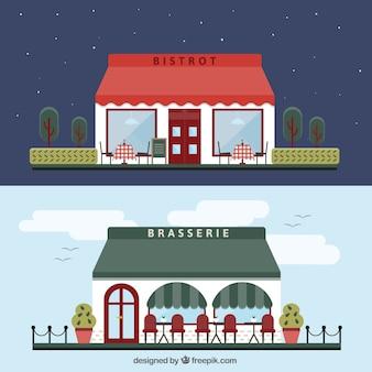 Bâtiments sur les restaurants