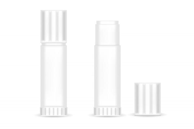 Bâton de colle papier réaliste isolé. illustration vectorielle.