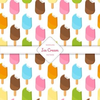 Bâton de crème glacée modèle sans couture