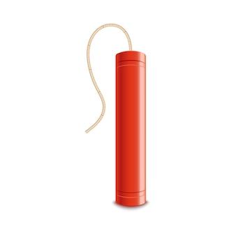 Bâton de dynamite explosif avec fusible éteint