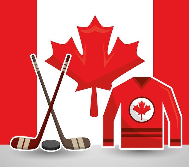 Bâtonnets de glace puck jesrsey canadian