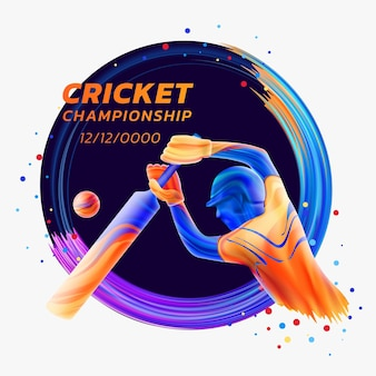 Batsman jouant des sports de compétition de championnat de cricket