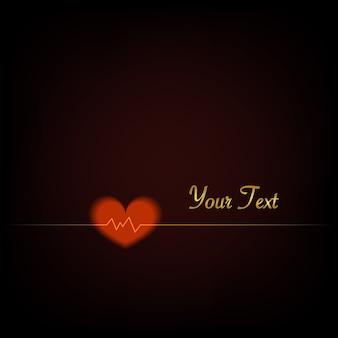 Battement de coeur, amour, conception d'illustration de fond