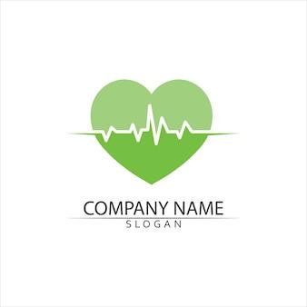 Battement de coeur, modèle de logo médical