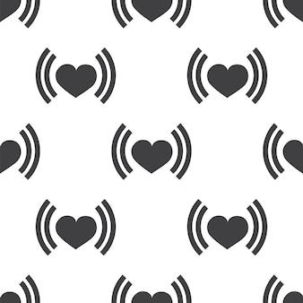 Battement de coeur, modèle sans couture de vecteur, modifiable peut être utilisé pour les arrière-plans de pages web, les remplissages de motifs