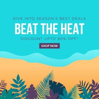 Battre les meilleures offres de conception de bannière de saisons chaudes