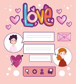 Bavarder amour romantique