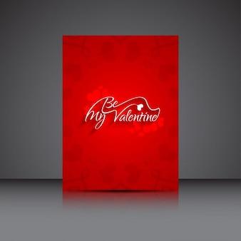 Be my valentine carte élégante