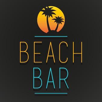 Beach bar tree palm beach logo