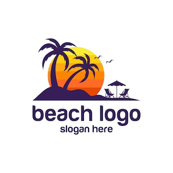 Beach logo vectors