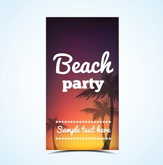 Beach party flyer - vector design beau fond