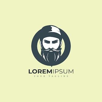 Beard man logo premium
