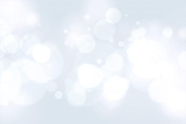 Beau blanc avec effet de lumière bokeh