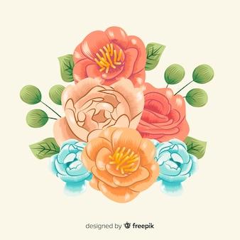Beau bouquet floral vintage