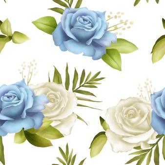 Beau bouquet de roses bleues sans soudure