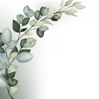 Beau Cadrage Florall Vecteur Premium