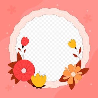 Beau cadre facebook floral