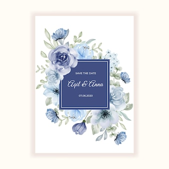Beau cadre de fleur pour l'invitation de mariage