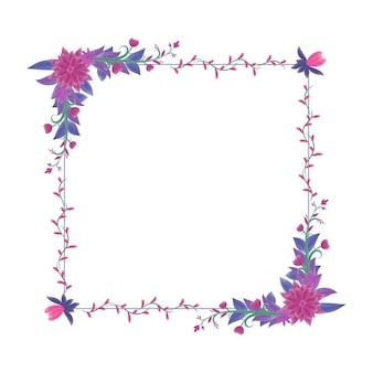 Beau cadre de fleur