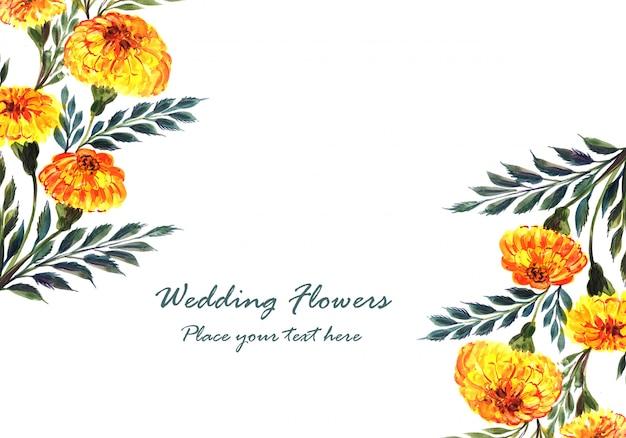Beau cadre de fleurs de mariage