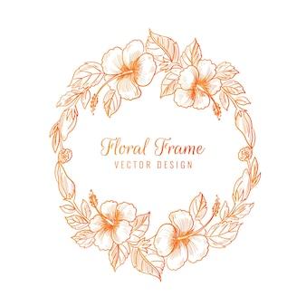 Beau cadre floral coloré décoratif de mariage