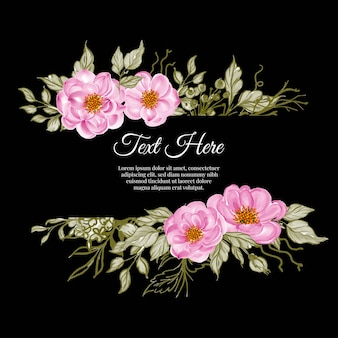 Beau cadre floral avec une élégante rose bébé rose