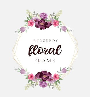 Beau cadre floral de mariage en bourgogne