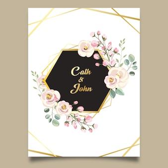 Beau cadre floral de mariage