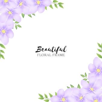 Beau cadre floral pour carte de voeux