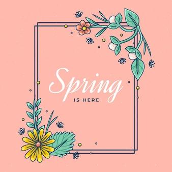 Beau cadre floral de printemps