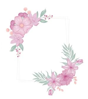 Beau cadre floral