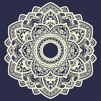 Beau cercle d'art mandala