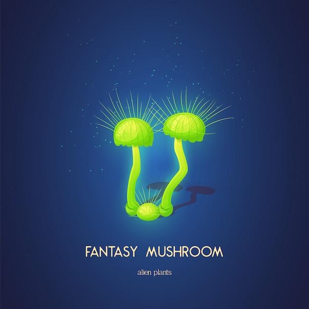 Beau champignon fantastique. éléments de nature insolites magiques