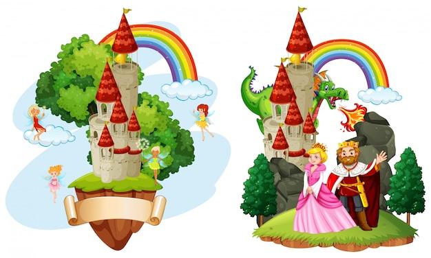Beau château de conte de fées