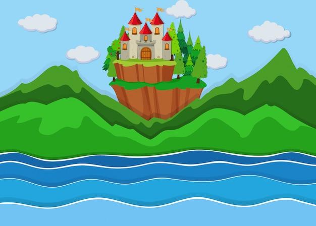 Un beau château sur l'île