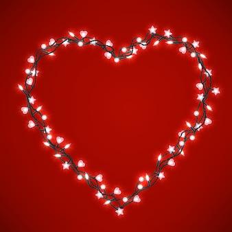 Beau cœur lumineux