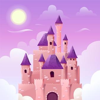 Beau concept de château de conte de fées