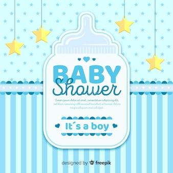 Beau concept de douche de bébé
