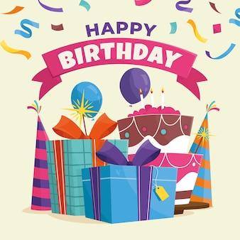 Beau concept de joyeux anniversaire