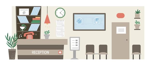 Beau concept de soins de réception hospitalière