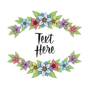 Beau design de bordure florale