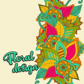 Beau design floral. illustration vectorielle