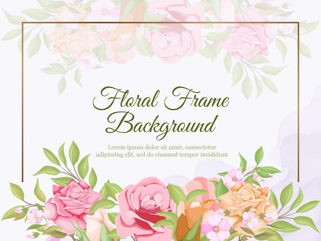 Beau design de fond de bannière de mariage floral