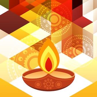 Beau design de fond de diwali