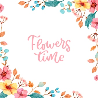 Beau design de fond floral