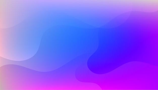 Beau design de fond fluide bleu vibrant