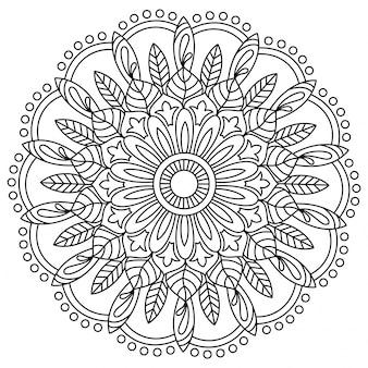 Beau design oriental mandala floral, élément décoratif vintage.