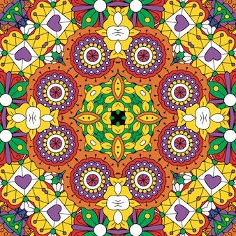 Beau dessin géométrique jaune plein cadre